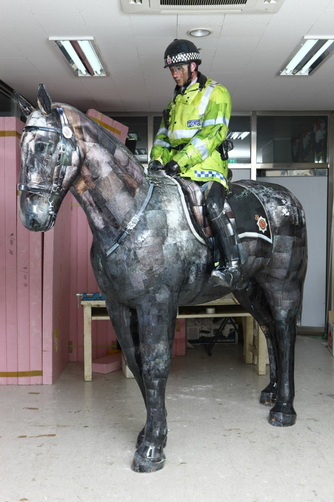 Manchester Mounted Police, 2008, C-print,mixed media, 278x110x128cm(4)