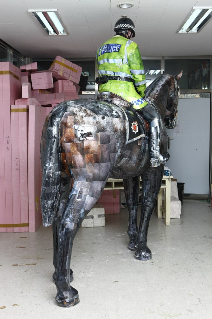 Manchester Mounted Police, 2008, C-print,mixed media, 278x110x128cm(5)